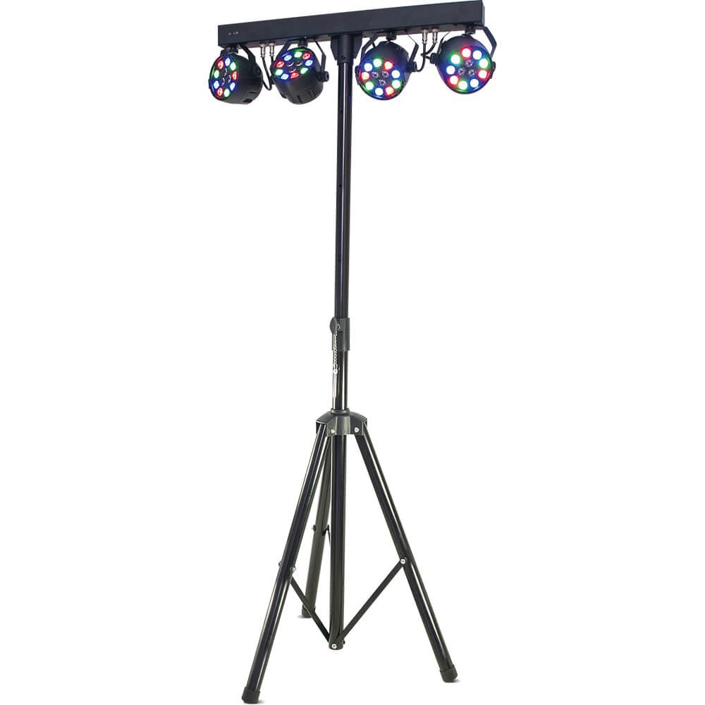 Ibiza Light DJLIGHT80LED Standaard met 4x 1W RGBW par cans (Actie) - overzicht