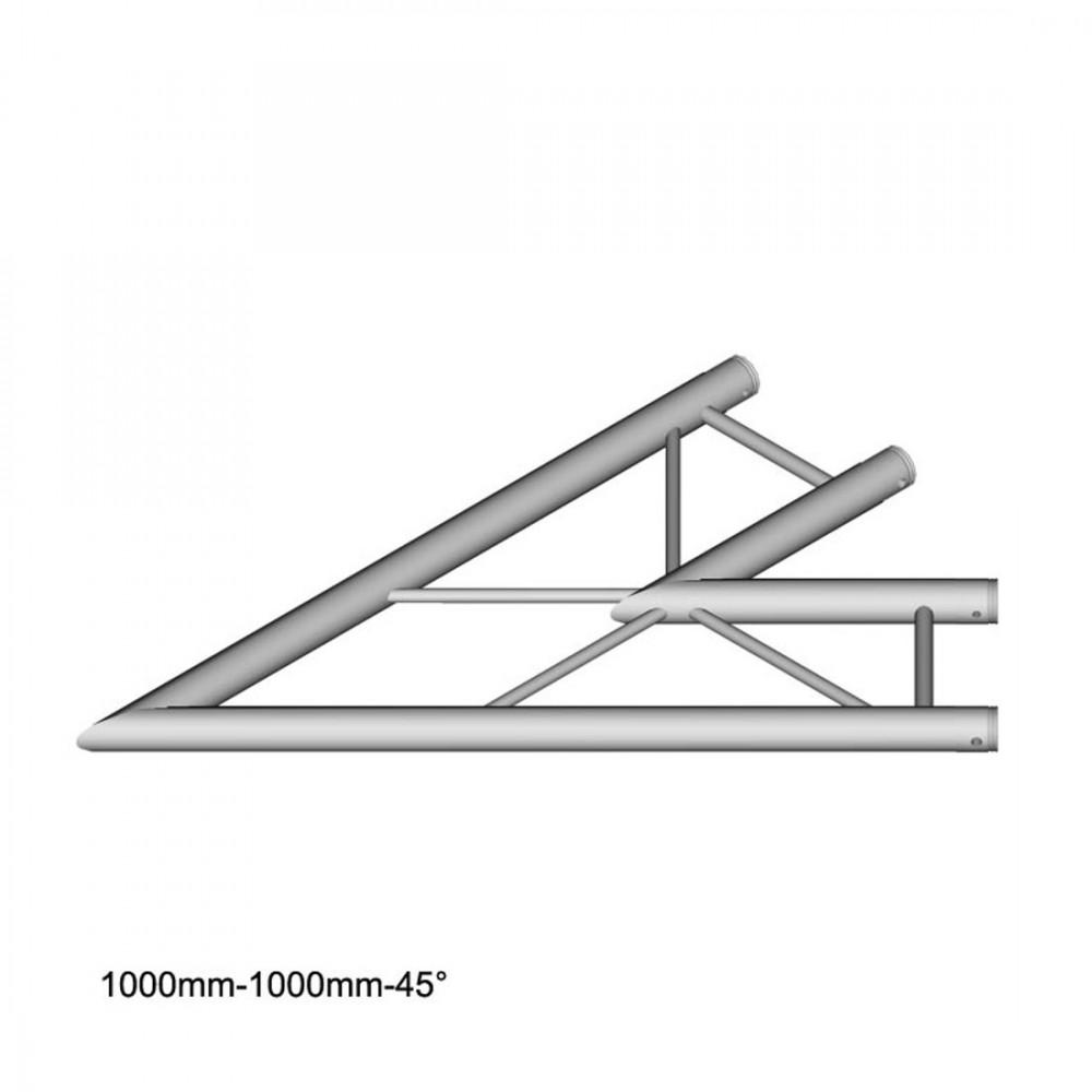 DuraTruss DT 32/2-C19H-L45 - 2-voudige hoek 45 ° horizontaal