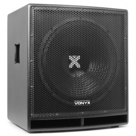 """Vonyx SWP15 15"""" Pro Actieve Subwoofer 800W - voorkant links"""