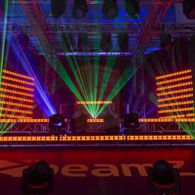 BeamZ LCB14 Hybride LED BAR Pixelbesturing - show oranje
