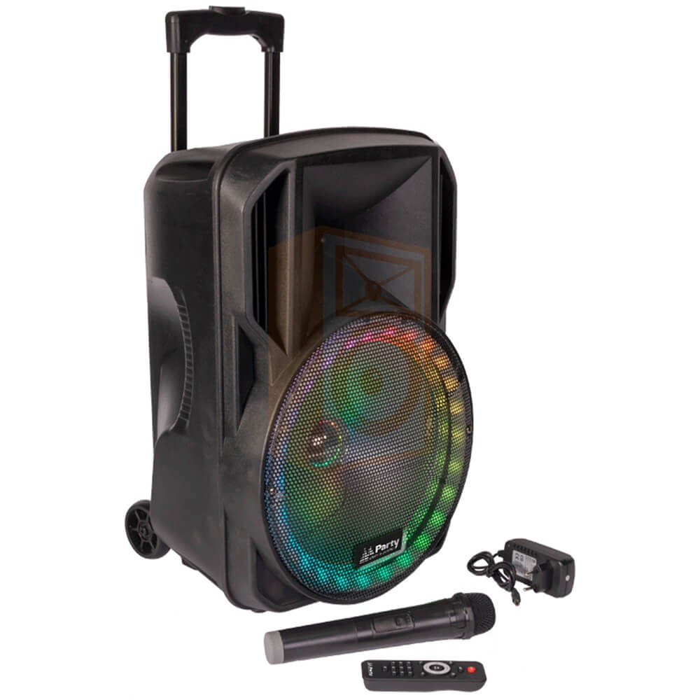 Party licht en sound PARTY-15RGB Draagbare luidspreker 15''/38cm met USB, BT en microfoon - overzicht