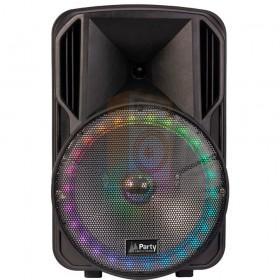 Party licht en sound PARTY-15RGB Draagbare luidspreker 15''/38cm met USB, BT en microfoon - voor