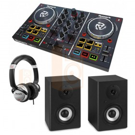 Numark Party Mix Set 7 DJ Controller met speakers en koptelefoon - overzicht