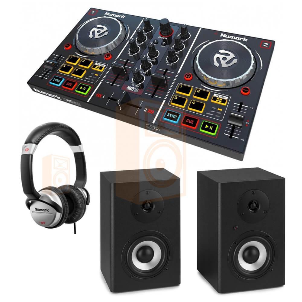 Numark Party Mix Set 7 DJ Controller met speakers en koptelefoon - overzicht