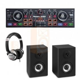 Numark DJ2Go2 set 1 Dj controller, koptelefoon en speakers - overzicht