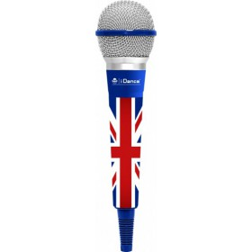 IDance CLM8 Karaoke microfoon UK/Blauw/Grijs