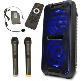iDance Megabox 5000 compleet met 3 draadloze microfoons en afstandsbediening