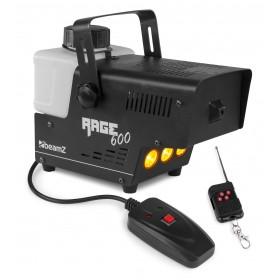 links alles - BeamZ Rage 600LED Rookmachine met amber leds en draadloze afstandsbediening