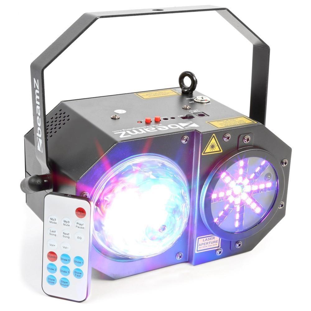 Voorkant BeamZ Sway LED Jellyball met Laser en LED Organ