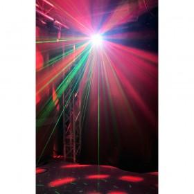 show 3 BeamZ Sway LED Jellyball met Laser en LED Organ