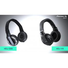 vergelijk hdj-500 met Pioneer HDJ-X5-K over-ear DJ-hoofdtelefoon