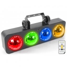 BeamZ DJ Bank BX 4x 3W RGBA LED's IR - met afstandsbediening
