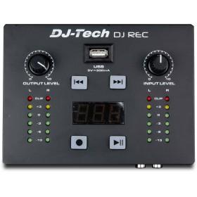 bovenkant, bediening DJ-Tech DJ Rec MKII - Mini MP3 speler en Recorder