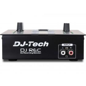 Voorkant tulp input aansluiting DJ-Tech DJ Rec MKII - Mini MP3 speler en Recorder