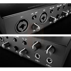 aansluitingen voorkant Native Instruments KOMPLETE AUDIO 6 MK2 - Pro studio geluidskaart