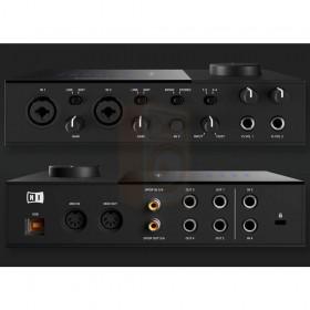 voor en achterkant zwart Native Instruments KOMPLETE AUDIO 6 MK2 - Pro studio geluidskaart
