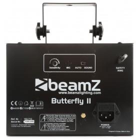 Achterkant BeamZ Butterfly II LED Mini derby lichteffect