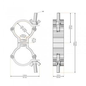 maten Global Truss GL3011 dubbele koppel clamp