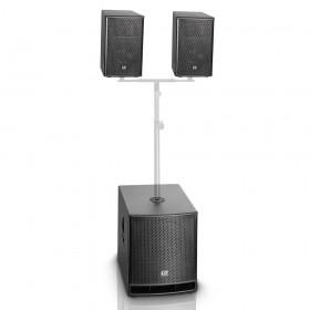 """optie voor plaatsen van 2 speakers op de sub - LD Systems DAVE10 G3 - Compact 10"""" Actief PA Systeem"""