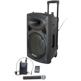 Ibiza Sound PORT15UHF-BT - Draagbare mobiele speaker set