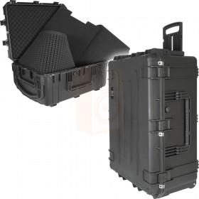 Waterdichte Transport Koffer IP67 met Trolley. Hoogwaardige ABS behuizing met handgreep.