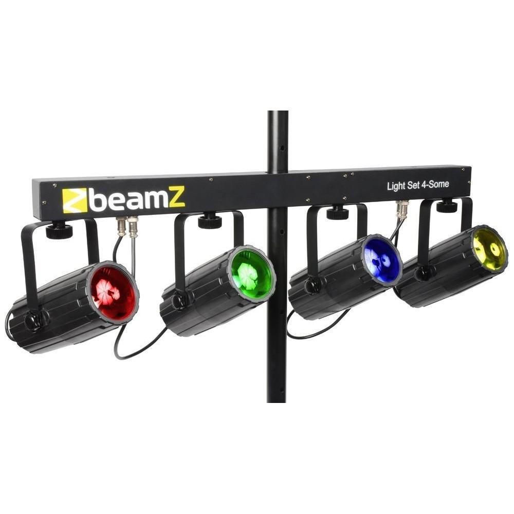 BeamZ 4-Some Lichtset 4x 57 RGBW LED's DMX effect lamp