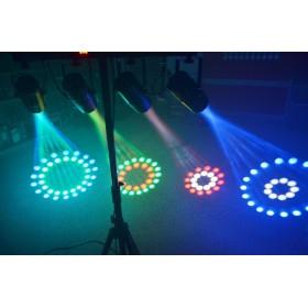BeamZ 4-Some Lichtset 4x 57 RGBW LED's DMX effect