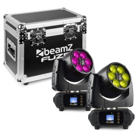 BeamZ Fuze610Z - Wash 6x 10W LED Moving Head Zoom Set 2 Stuks in Flightcase