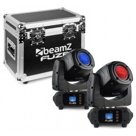 BeamZ Fuze75S - Spot 75W LED Moving Head Set 2 Stuks in Flightcase