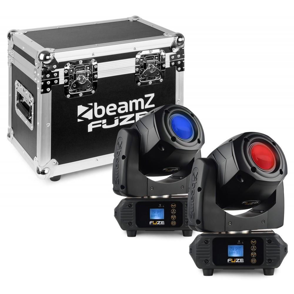 BeamZ - Fuze75B Beam 75W LED Moving Head Set 2 Stuks in