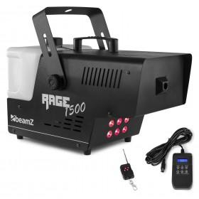 Voorkant De Rage1500LED is een krachtige 1500W DMX - rookmachine.