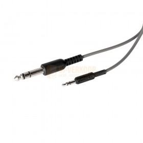 Jack 3.5 en 6.35 mm jack aansluiting kabel Ibiza Sound DHJ250 - Opvouwbare Stereo DJ Hoofdtelefoon