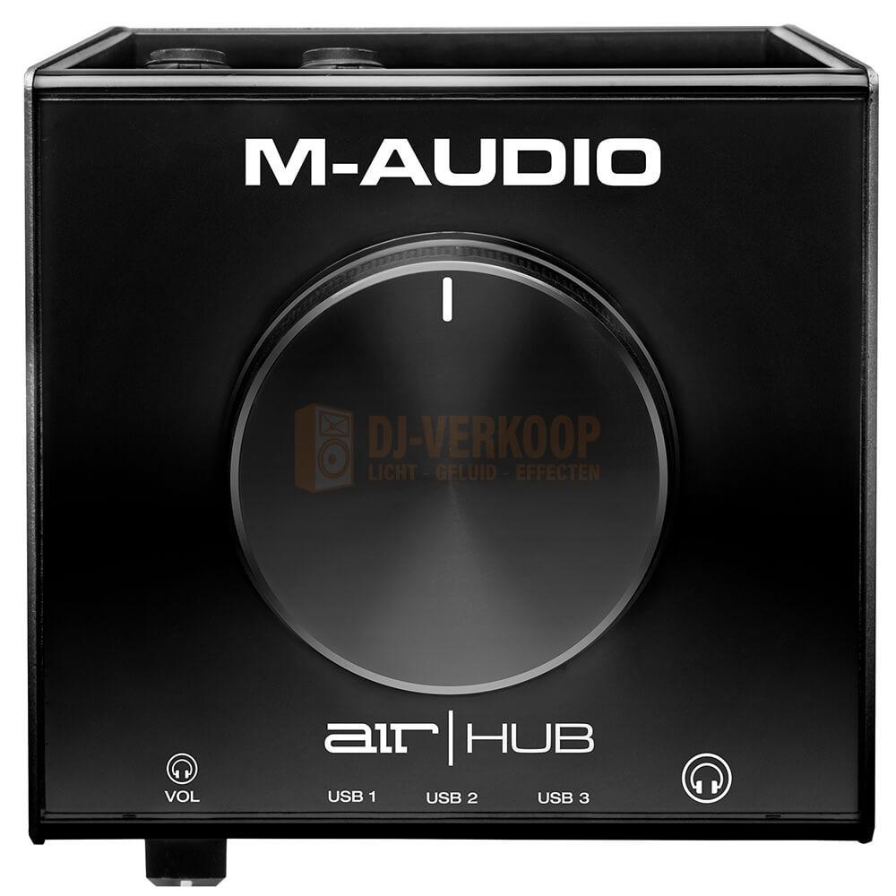 bovenkant volume knop M-Audio Air Hub - USB-Audio interface met ingebouwde 3-poorts hub