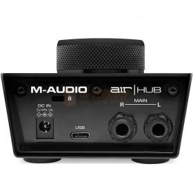 Aansluitingen M-Audio Air Hub - USB-bewakingsinterface met ingebouwde 3-poorts hub