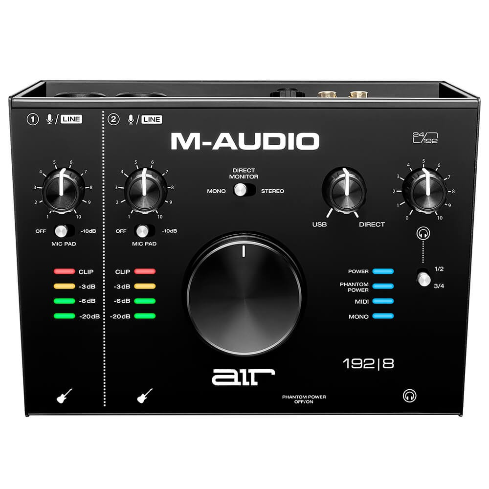 Bovenkant M Audio Air 192 8 - 4-In/4-Out 24/192 USB Audio Interface