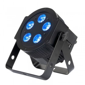 zwarte American DJ 5PX HEX - 5x12 Watt 6-IN-1 HEX LED Par met DMX