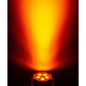 effect oranje American DJ 5PX HEX - 5x12 Watt 6-IN-1 HEX LED Par met DMX