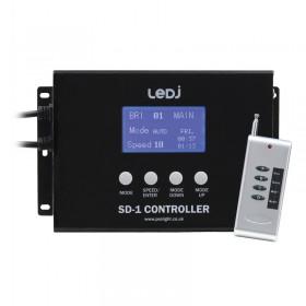 Bedieningspaneel met afstandsbediening LEDJ LEDJ462 SD 1 - Controller voor het Animatie Matrix Display Systeem