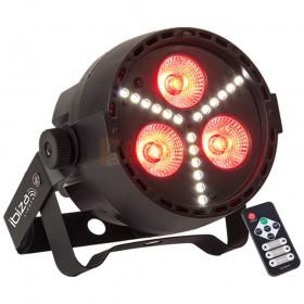 Afstandsbediening Ibiza Light PAR-MINI-STR - 4-IN-1 RGBW LED PAR CAN MET SMD LED STROBE