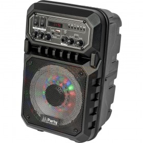 Voorkant - 2 Party Light & Sound PARTY-6LED-MKII - Draagbare luidspreker 6,5''/16cm - 200W Met USB, Micro-SD & Bluetooth