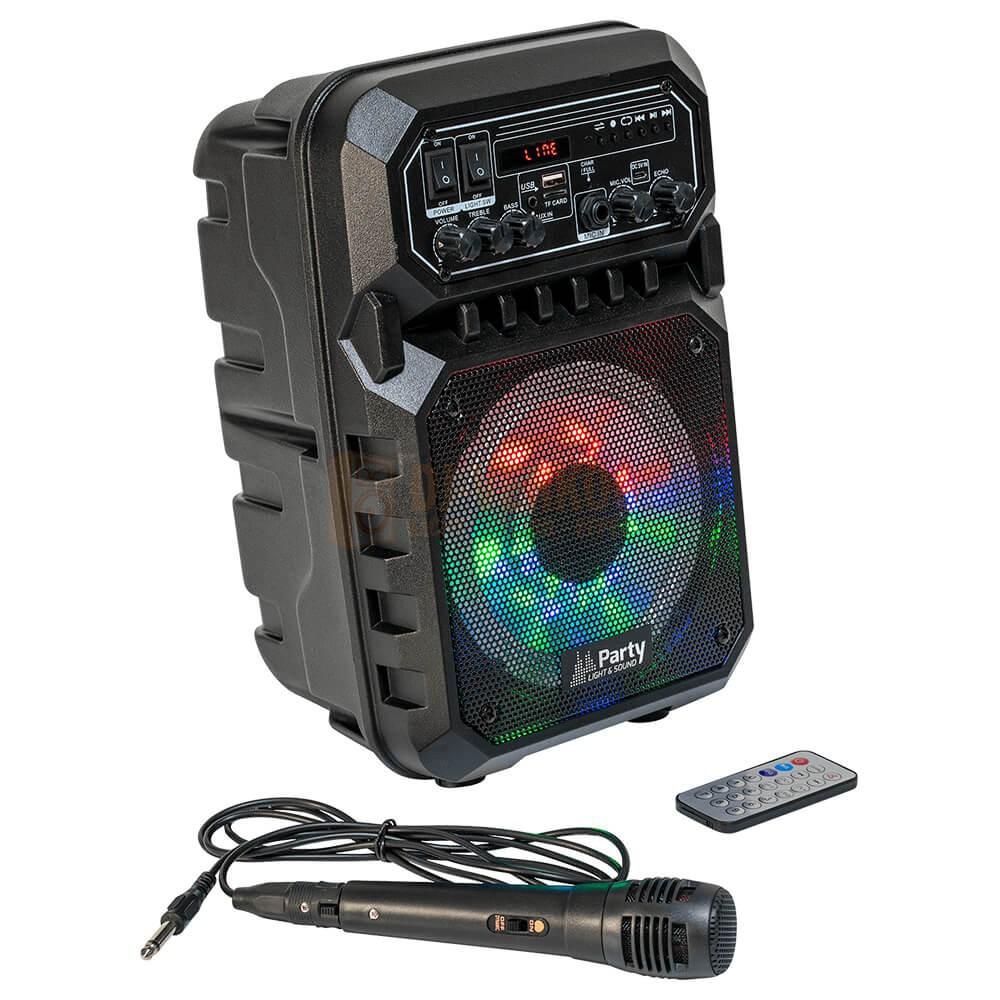 Afstandbediening en Microfoon bij de Party Light & Sound PARTY-6LED-MKII