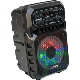 Voorkant - 1 Party Light & Sound PARTY-6LED-MKII - Draagbare luidspreker 6,5''/16cm - 200W Met USB, Micro-SD & Bluetooth