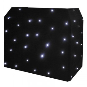 Zwart Equinox DJ Booth LED Starcloth-systeem, CW