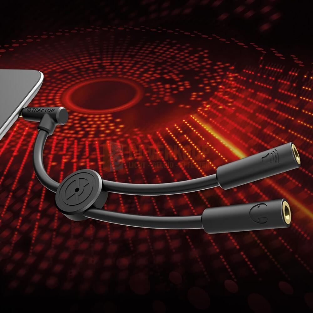 Bevestiging Splitter Native Instruments Traktor DJ cable - Voorbeluister spliter kabel
