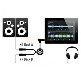 Splitter schema Native Instruments Traktor DJ cable - Voorbeluister spliter kabel