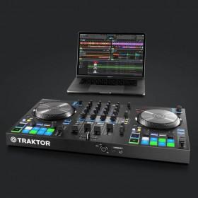 controller met laptop native instruments Traktor Kontrol S3 - 4 Kanalen DJ controller