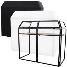 Equinox EQLED12P - Aluminium lichtgewicht DJ Booth Systeem MKII incl. wit en zwart doek
