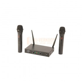 Party Light & sound PARTY-200UHF-MKII - Draadloos 2-kanaals UHF microfoon systeem