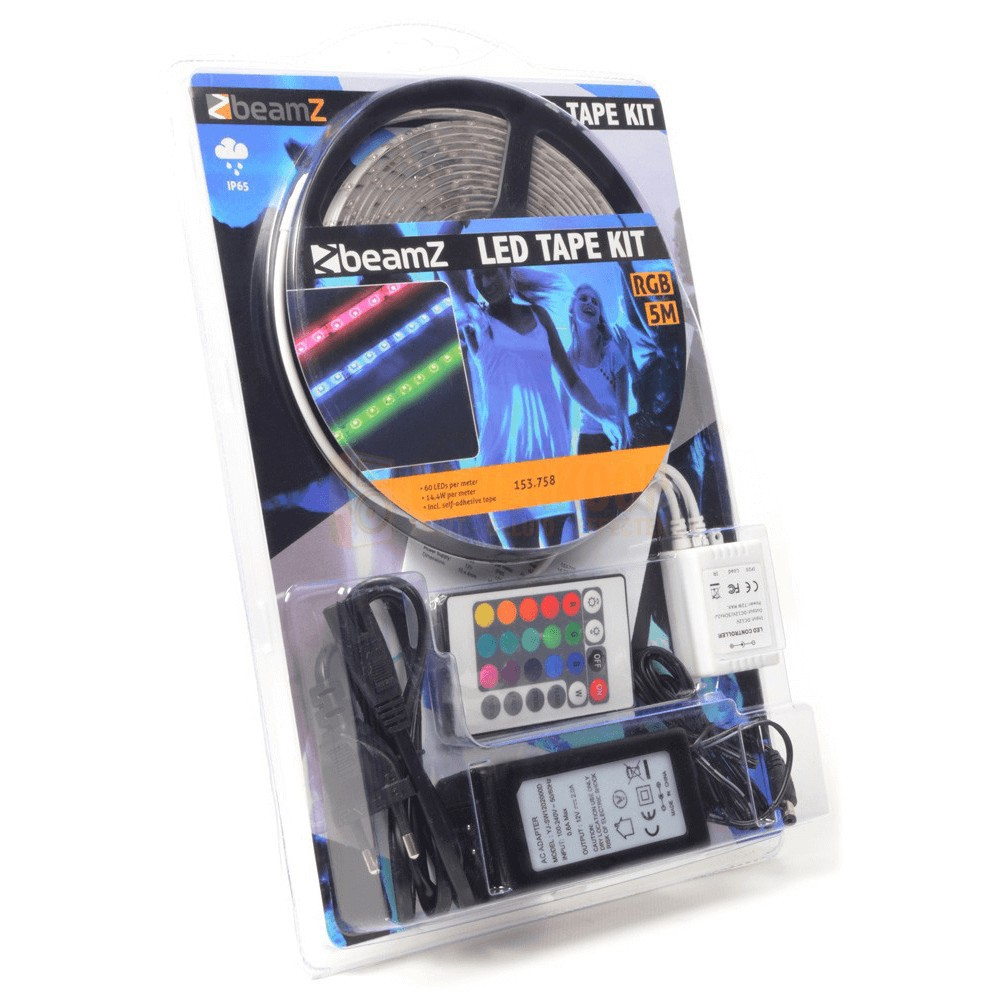 Verpakking Beamz LED Tape Kit 5m RGB - 60 LEDs per meter IP65