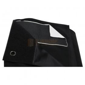 LEDJ STAR31 - 6 x 3m Zwart Serge Drape